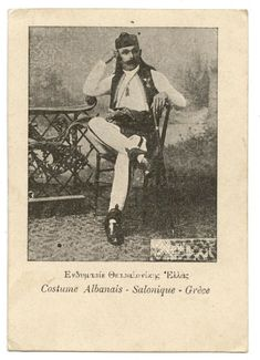 Find many great new & used options and get the best deals for COSTUME ALBANAIS.SALONIQUE.GRèCE.ALBANIAN SUIT.SALONIKA.GREECE. at the best online prices at eBay! Free shipping for many products! Albanian Culture, Ottoman Turks, Thessaloniki, Historical Pictures, Traditional Outfits, Greece, Dry Clay, History, Ancient Jewelry