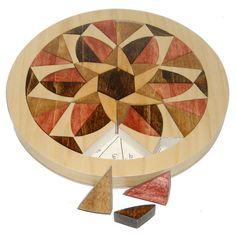Mosaic Wooden Mandala Tray Puzzle Positively by ThePuzzledOne