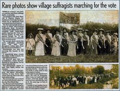 Suffragists in Broughton Astley.