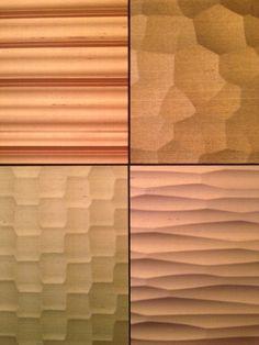 KINUMOTE : silk wallpaper on wavy panel Silk Wallpaper, Creative Walls, Architecture Details, Craftsman, Surface, Texture, Contemporary, Pattern, Inspiration