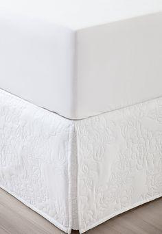 dad080edd Saia para Cama Box Casal Corttex Floral Matelada Branca
