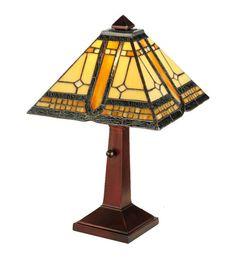 "Meyda 142879 Stained Glass Sierra Prairie Mission Accent Table Lamp 16"" #Meyda #StainedGlass"