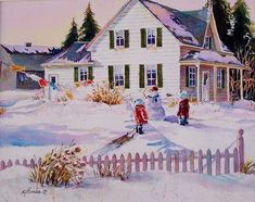 """Snow in St. Ambroise"" by Nicole Gelinas"