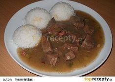 Stew, Mashed Potatoes, Pork, Meat, Cooking, Ethnic Recipes, Whipped Potatoes, Kale Stir Fry, Kitchen