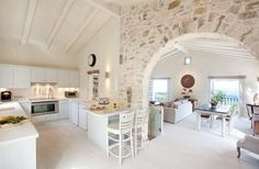 Home Decor Interior Designs Pulte Homes, Küchen Design, Design Case, Villas In Corfu, Greece House, Greek Decor, Mediterranean Homes, Home Interior Design, Sweet Home