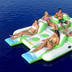 (44) Fancy - Tropical Tahiti Inflatable Floating Island