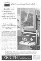 Zenith Trans-Oceanic Radio Royal 1000 1958 Ad Picture