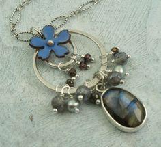 Flower Necklace with Labradorite  by Kathryn Riechert