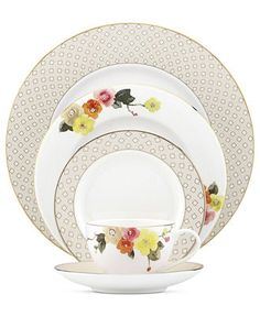 kate spade new york dinnerware waverly pond 5 piece place setting fine china