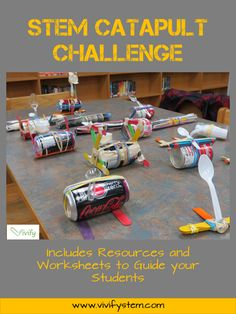 A favorite STEM engineering challenge! This STEM catapult challenge involves engineering, geometry, ratios, critical thinking, and teamwork in an engaging activity your students will love! Stem Science, Physical Science, Science Education, Teaching Science, Science For Kids, Science Activities, Engineering Design Process, E Mc2, Stem Challenges
