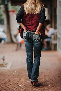 boho babe bootcut jeans