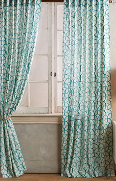 1000 ideas about turquoise curtains on pinterest - Green and turquoise curtains ...