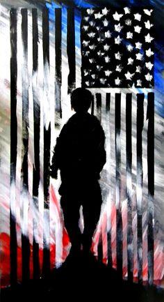 American Soldier Original Painting