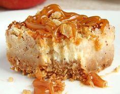 Recette facile de gâteau au fromage aux pommes et caramel