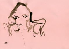 """Bette Franke"" オランダ出身モデルのベッテ・フランク。奥二重のクールな目元と、ぷっくりしたチャーミングな唇が魅力的。"
