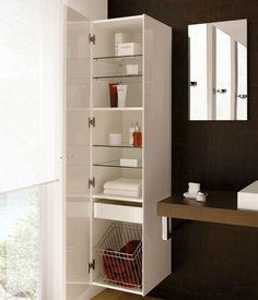 Шкаф для ванной со встроенной корзиной для белья - http://mebelnews.com/mebel-dlya-vannoy/shkaf-dlya-vannoj-so-vstroennoj-korzinoj-dlya-belya.html