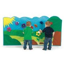 Soft Garden Wall Mural - 14 Pieces  Provides toddlers with sensory activity, can be connected to seasonal curriculum. Ideal for small spaces.