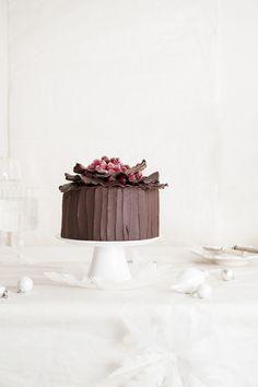 chocOlate salted caramel almond cream cake