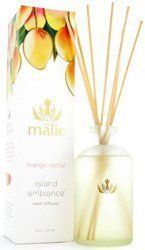 Malie Organics Island Ambiance Reed Diffuser - Mango Nectar by Malie Organics. $79.95. Beautifully packaged in a 8 oz frosted glass bottle.. Highest quality diffuser on the market, contains pure perfume oil and no alcohol. Transform your home into a tropical paradise with the exotic aromas of the Islands. The delicate reeds allow the subtle release of these beautiful scents. #1 selling product for good reason, it lasts and delights for over a year!. This beautiful Isla...