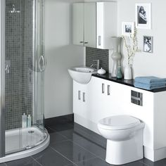 Linear Space Saving Furniture for small bathrooms