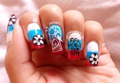 2018 FIFA World Cup Russia #WorldCup #Russia2018 #football #handpainted #nailart