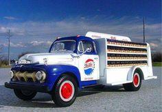 Pepsi Truck Big Ford Trucks, Classic Ford Trucks, Old Trucks, Chevy Trucks, Pickup Trucks, Classic Cars, Antique Trucks, Vintage Trucks, Pin Up Girls