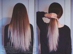 Густые волосы, омбре, рыжие.
