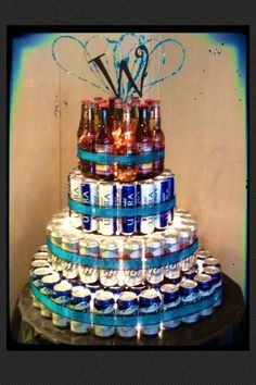 Liquor Bottle Cake Decorations Life On E Avenue Beer Cake Diy 30 Beers For 30 Years  For