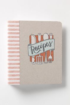 Letterpress Recipe Binder by 1canoe2