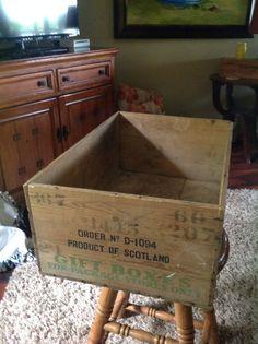 Vintage Drambuie Wood Crate