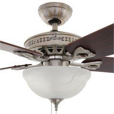 Hunter Astoria 52 in. Indoor Brushed Nickel Ceiling Fan with Light Kit