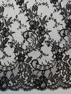 Black Chantilly Lace Kate Black Lace Kate The post Black Chantilly Lace Kate appeared first on Lace Diy. Lace Wallpaper, Pattern Wallpaper, Kate Fashion, Home Design, Black Lace Tattoo, Black Lace Fabric, Plaid Fabric, Rose Lace, Lace Print