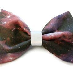 Nebula/space/galaxy print fabric hair bow