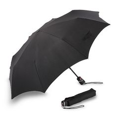 Knirps Luggage T3 Duomatic Umbrella, Black, Large Knirps. $54.75. 100% Polyester. inchSmart close inch shaft retracts in stages for remarkable ease of use.. Push-button auto open-close.. Reinforced ribs and hinges for maximum durability.. Length closed: 11.5 inch. Hand Wash