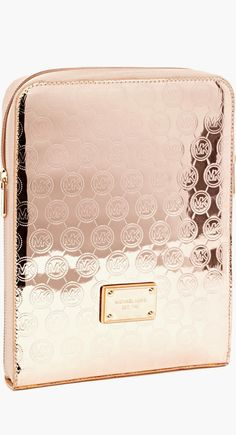Michael Kors ● Monogram Ipad Case ● Rose Gold