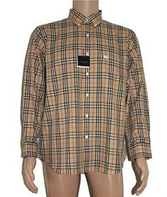 BURBERRY – Chemise casual – Homme – Beige – taille col: 36