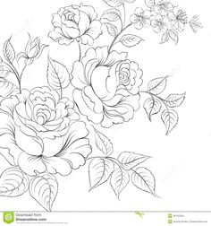 31 Best Flower Bouquet Tattoo Outlines Images Flower Designs