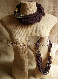 Jewlery, Crochet Necklace, Chokers, Jewelry Making, Knitting, Boho, People, Fabric, How To Wear