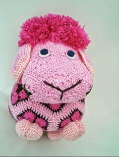 Sheep In Crochet Crochet Sheep toy African Flower Sheep by Venko