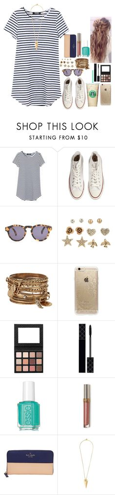 I just want this whole outfit for summer! by flroasburn ❤ liked on Polyvore featuring Converse, Illesteva, Aéropostale, ALDO, Rifle Paper Co, Gucci, Kate Spade and Tory Burch