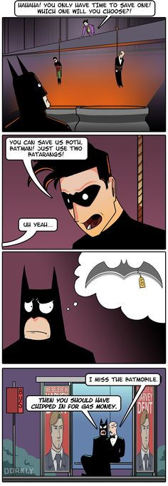 """If Batman Were Poor"" #dorkly #geek #batman"