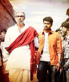 Vijay and Sathyaraj in Thalaivaa Movie