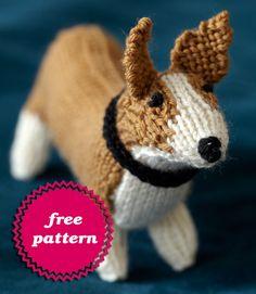 Free Stuffed Animal Patterns – Dogs to knit, sew, crochet – Grandmother& Pattern Book Knitted Stuffed Animals, Knitted Animals, Animal Knitting Patterns, Stuffed Animal Patterns, Loom Knitting, Free Knitting, Knitting Stiches, Knitting Projects, Crochet Projects