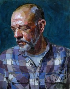 """Laurent Dauptain """"Autoportrait"""" huile sur toile 92 X 73 cm 2016"""