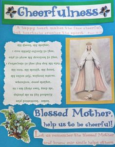 Shower of Roses: Our Little Flowers Girls' Club  List of Virtues