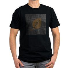 Cool Gold Leaf on Black Denim T-shirt
