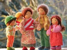 Babywearing doll house family