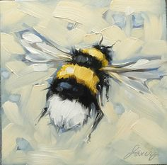 Kuvahaun tulos haulle how to paint a bee with acrylic Bee Painting, Painting & Drawing, Painting Inspiration, Art Inspo, Bee Art, Guache, Animal Paintings, Small Paintings, Watercolor Art