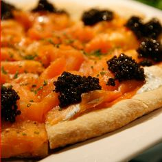 Spago Smoked Salmon Pizza...it just doesn't get any better