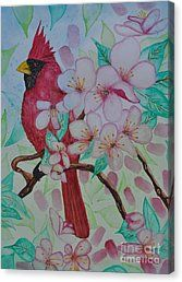 Gem Among The Blooms Canvas Print by Sally Rice